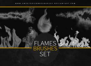 Flames Brushes   Photoshop