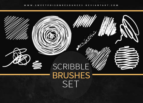 Scribble Brushes   Photoshop