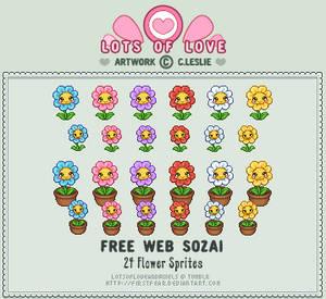 Pixel - Flower Sprites