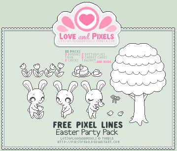 Pixel - Easter Party OutLine Pack by firstfear
