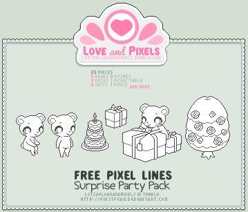 Pixel - Surprise Party OutLine Pack