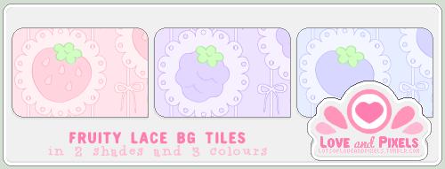 Vector - FruityLace BG Tiles by firstfear
