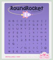 Font - Round Rocket by firstfear