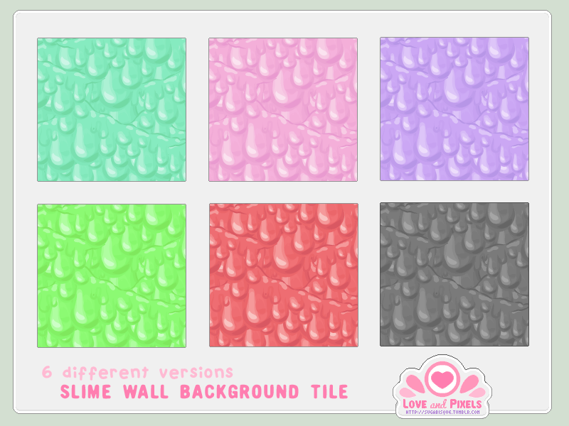 Vector - Slime Wall Tiles by firstfear