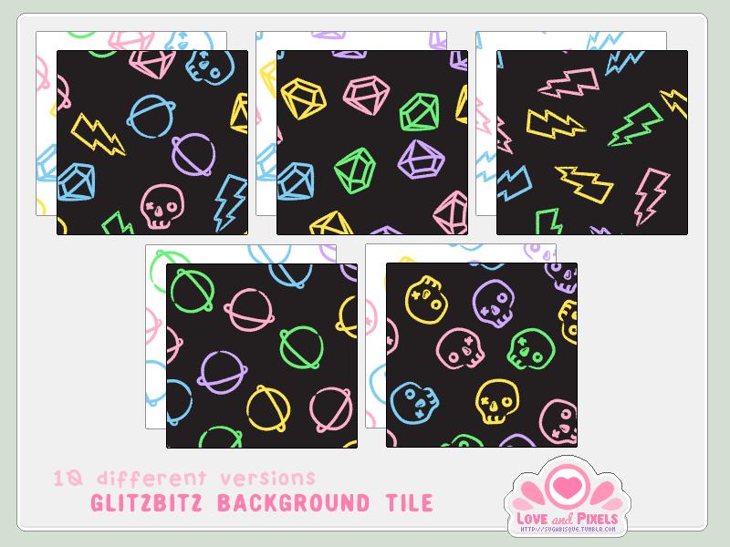 Vector - GlitzBitz BG Tiles by firstfear