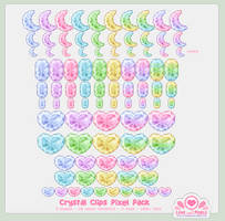 Pixel - Crystal Clips Pack by firstfear