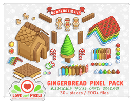 PixelPack - Gingerbread Village by firstfear