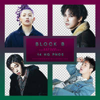 Block B MONTAGE Png pack by RoxyNeonColors