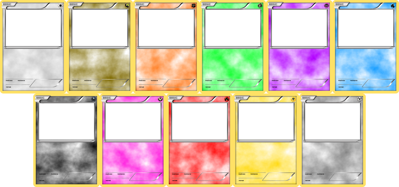 pokemon templates print - pokemon blank card templates basic by levelinfinitum on
