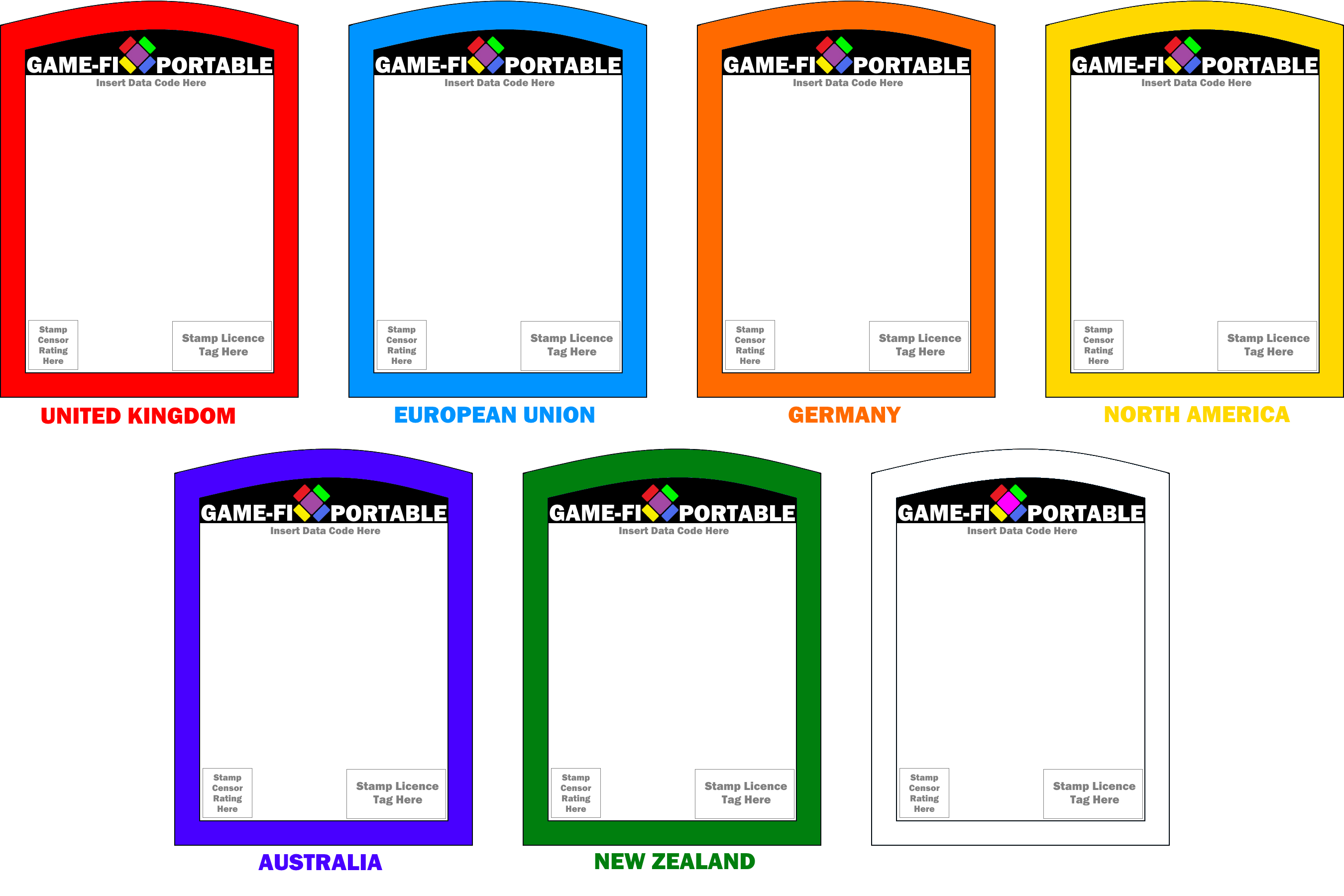 game fi portable game card templates by levelinfinitum on. Black Bedroom Furniture Sets. Home Design Ideas