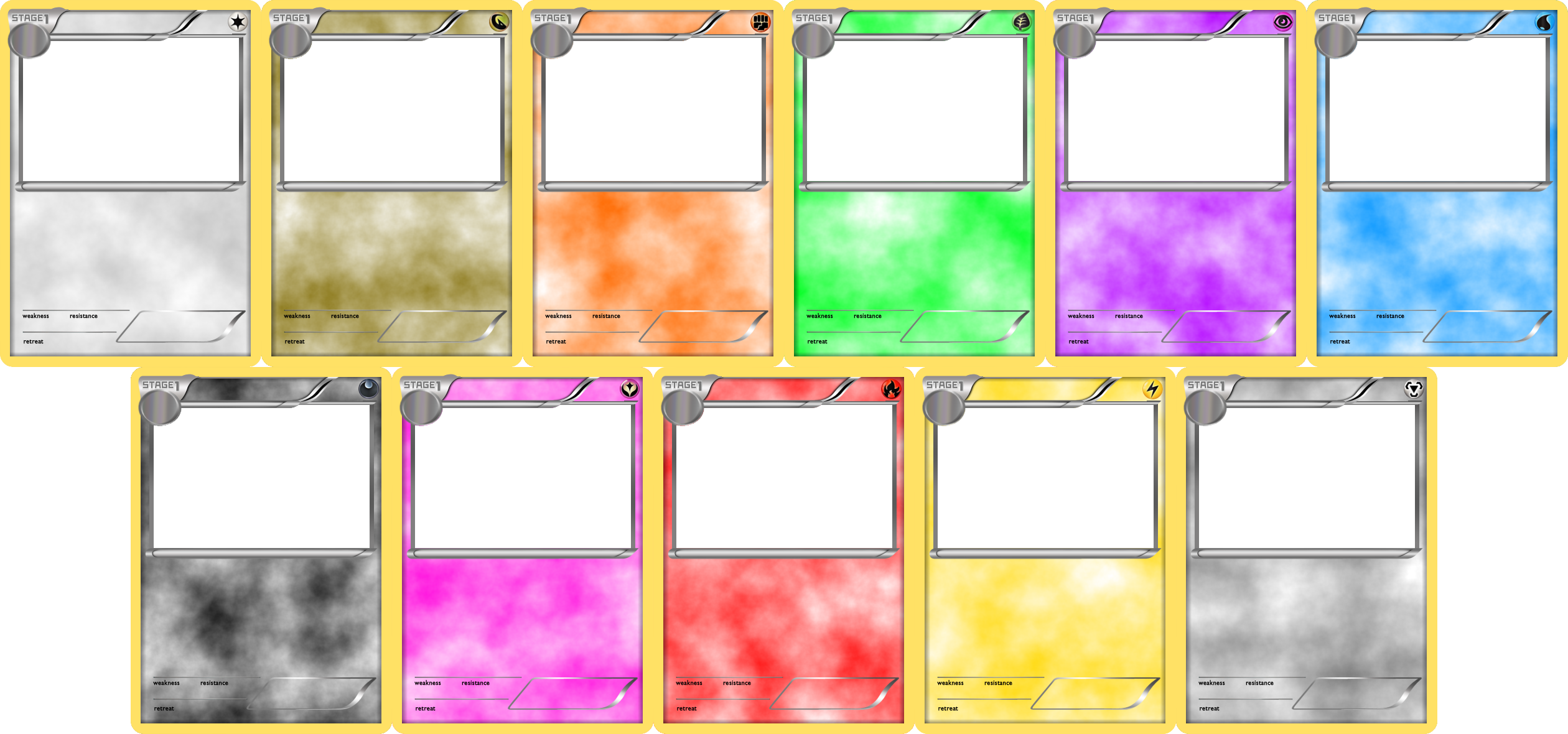 Pokemon blank card templates stage 1 by levelinfinitum for Pokemon templates print