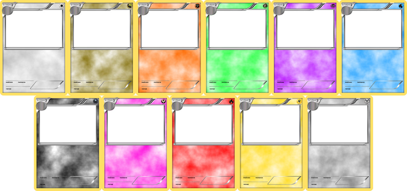 Pokemon Blank Card Templates Stage 2 By Levelinfinitum
