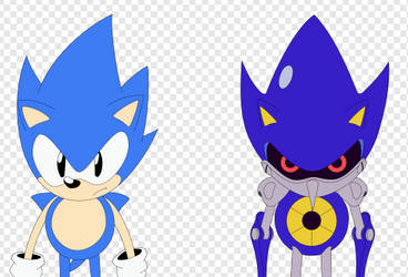 Sonic and Metal (SVG) by Diamond00744