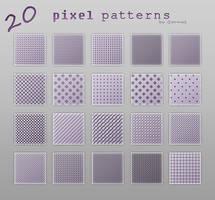 Pixel patterns by Gormal
