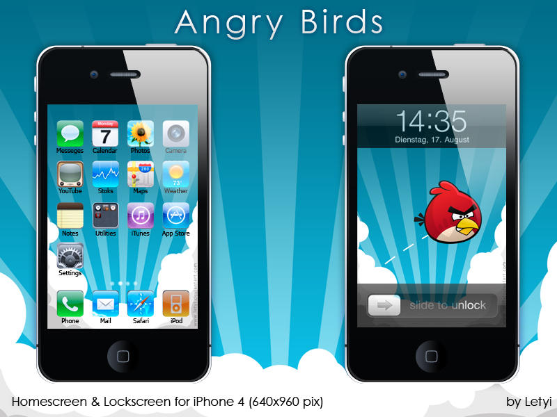 Angry Birds iPhone by Letyi