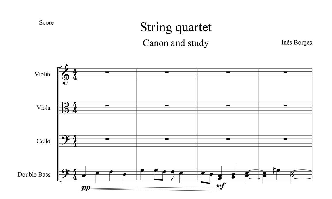 Writing a string quartet drawing