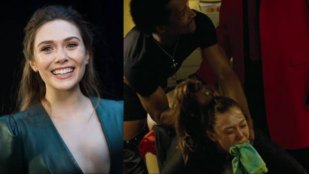 Elizabeth Olsen gagged and spanked