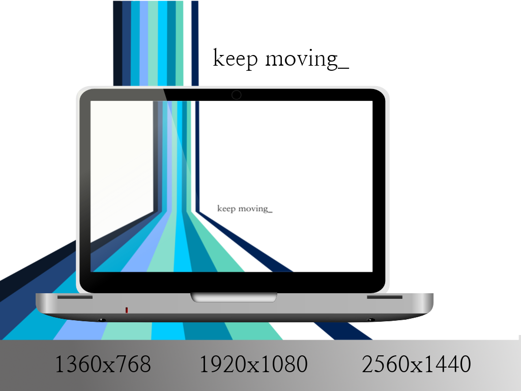 Keep Moving v.2 Prussian by StockThis-StockThat