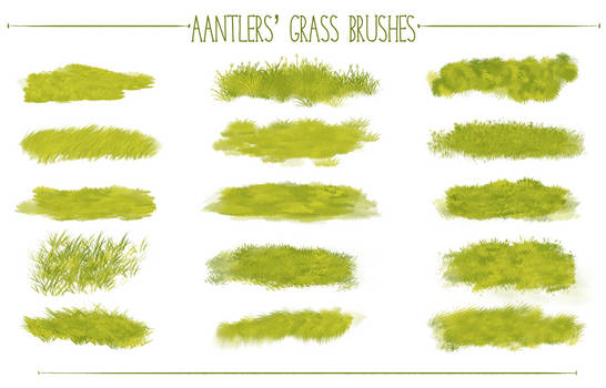 Aantlers' Free Photoshop Grass Brushes