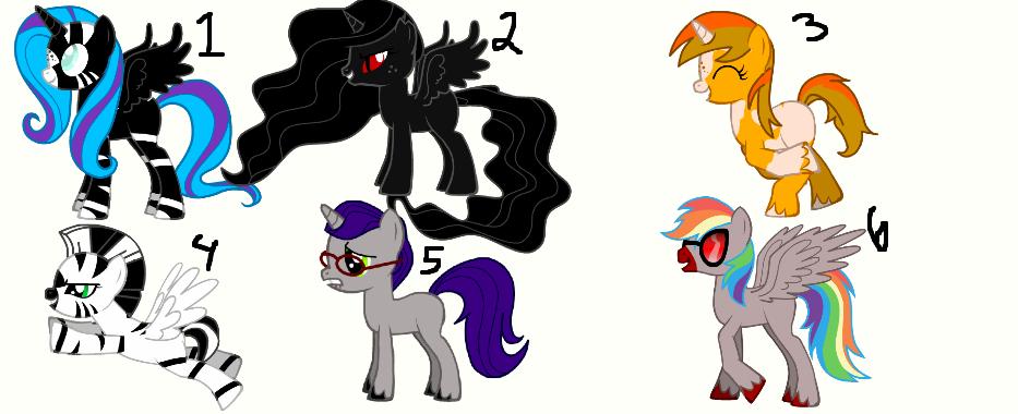 Free Pony Adopts! CLOSED! by TwilightLuv10