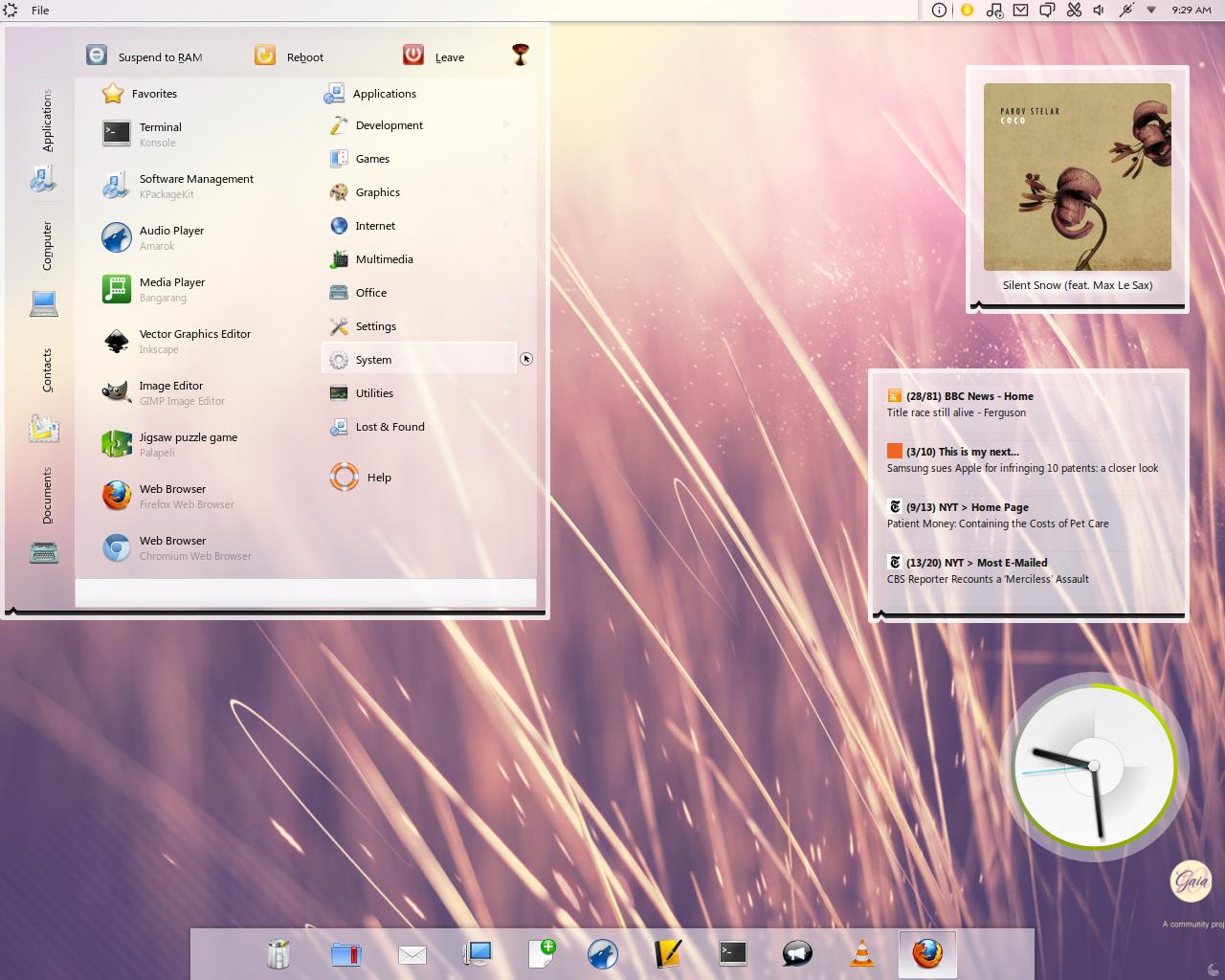 Gaia10 KDE Plasma Theme.