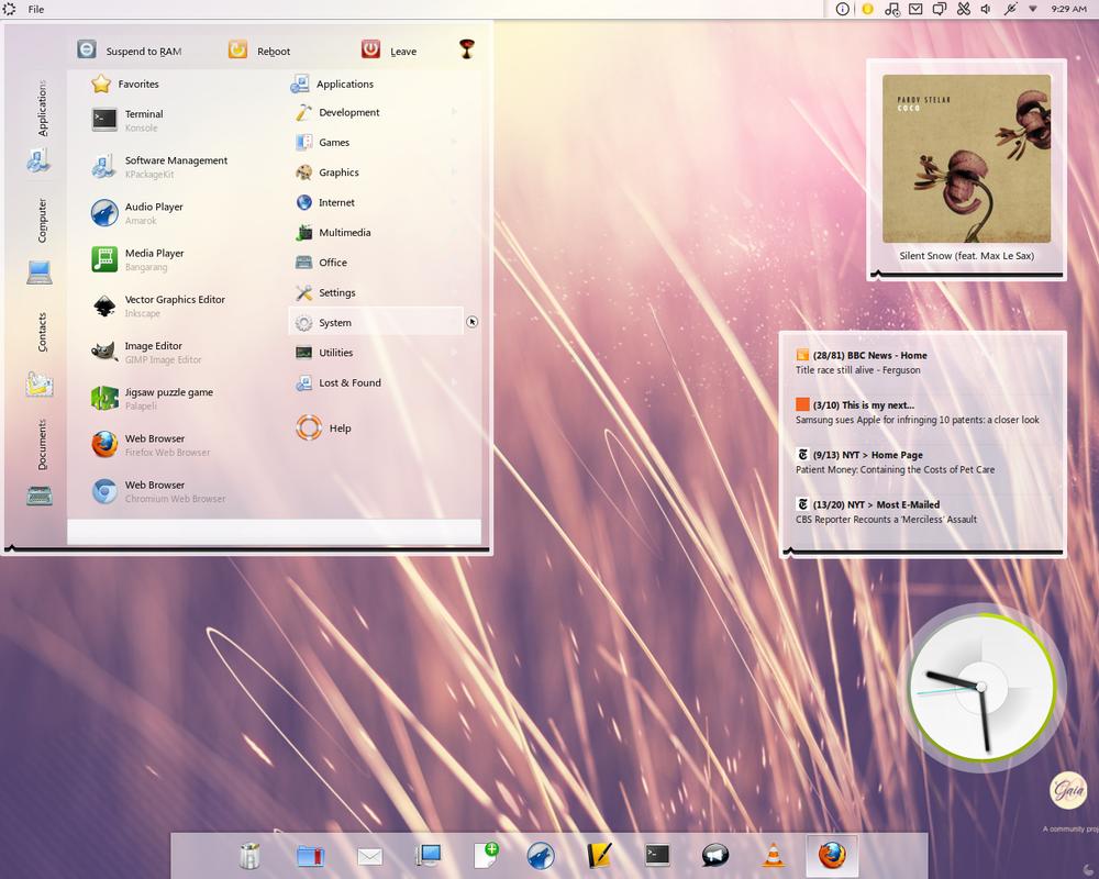 Gaia10 KDE Plasma Theme. by Islingt0ner