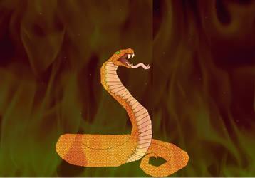 Fire serpent (attempt) by Butterfrogmantis
