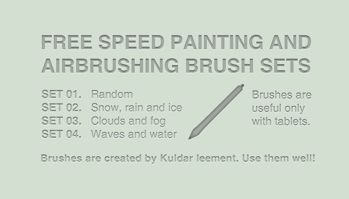Free speed painting and airbrushing brushes sets