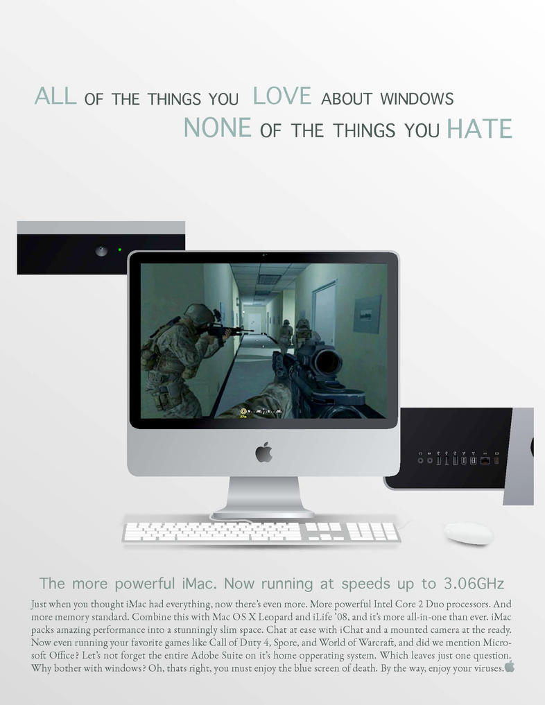 iMac Ad by ShinobiNightmare18
