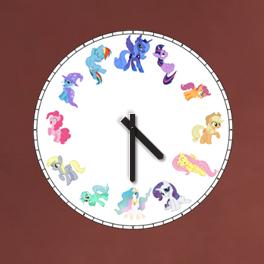 Pony Clock (Windows Gadget) V1 by genstian