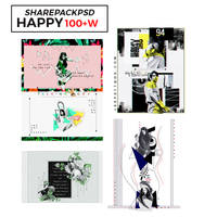 {1608}{++//PACKSHARE./HAPPY100+W.//}{FR.LEEPETT+} by Leepett