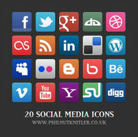 Social Media Icons 1 by PhilnutKnitler