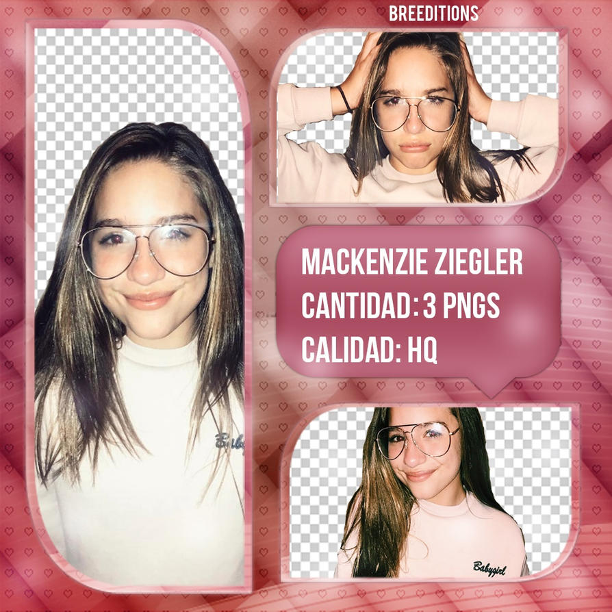 Mackenzie Ziegler Pack Png by BreEditionsOfficial