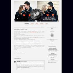 Blogspot template Kiedy kochasz by MySensitiveHeart