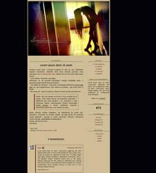 Blogspot template Samotnosc by MySensitiveHeart