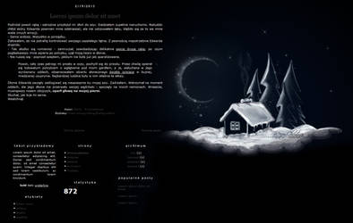 Blogspot template Domek wieczorem by MySensitiveHeart