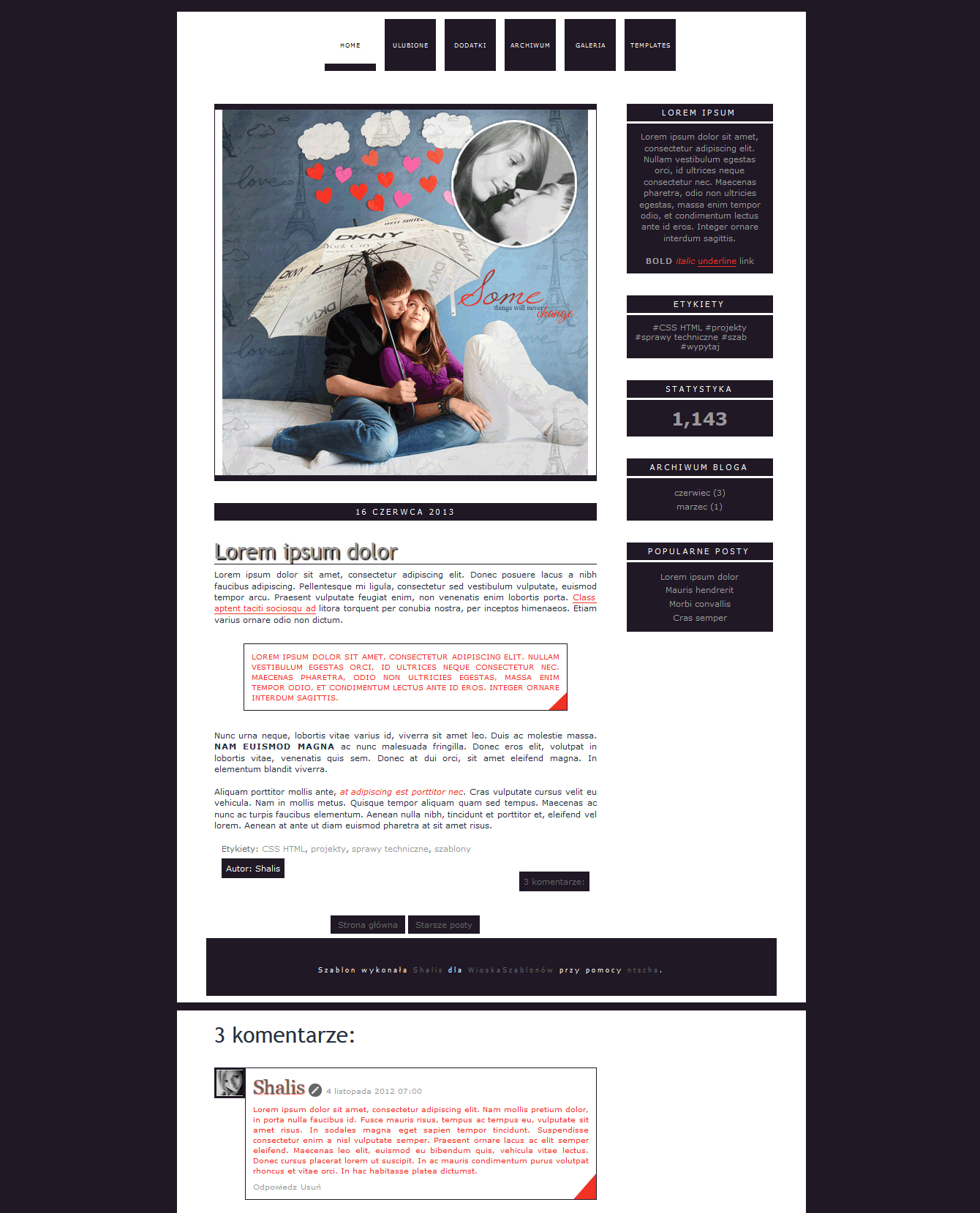 Blogspot template Some things will never change by MySensitiveHeart