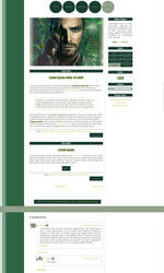 Blogspot template The Arrow by MySensitiveHeart