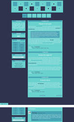 Blogspot template Everything is blue by MySensitiveHeart