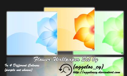 Flower vector Wallpaper set by aggeloscy
