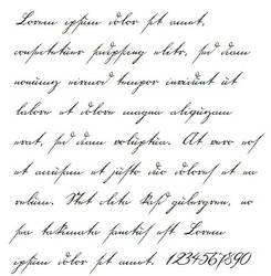 18th century handwriting font