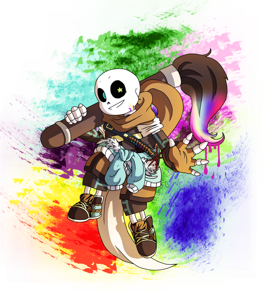 Undertale Ink! Sans x Reader- Colours of Emotions by Skull