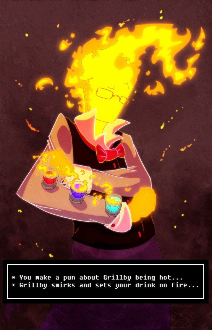 Grillby x Reader -Hungry for Food? Or the Flame? by Skull