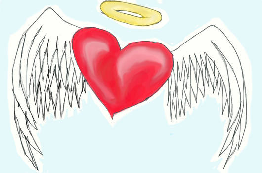 Flying Heart of an Angel