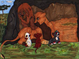 Lions by Teazerkitt