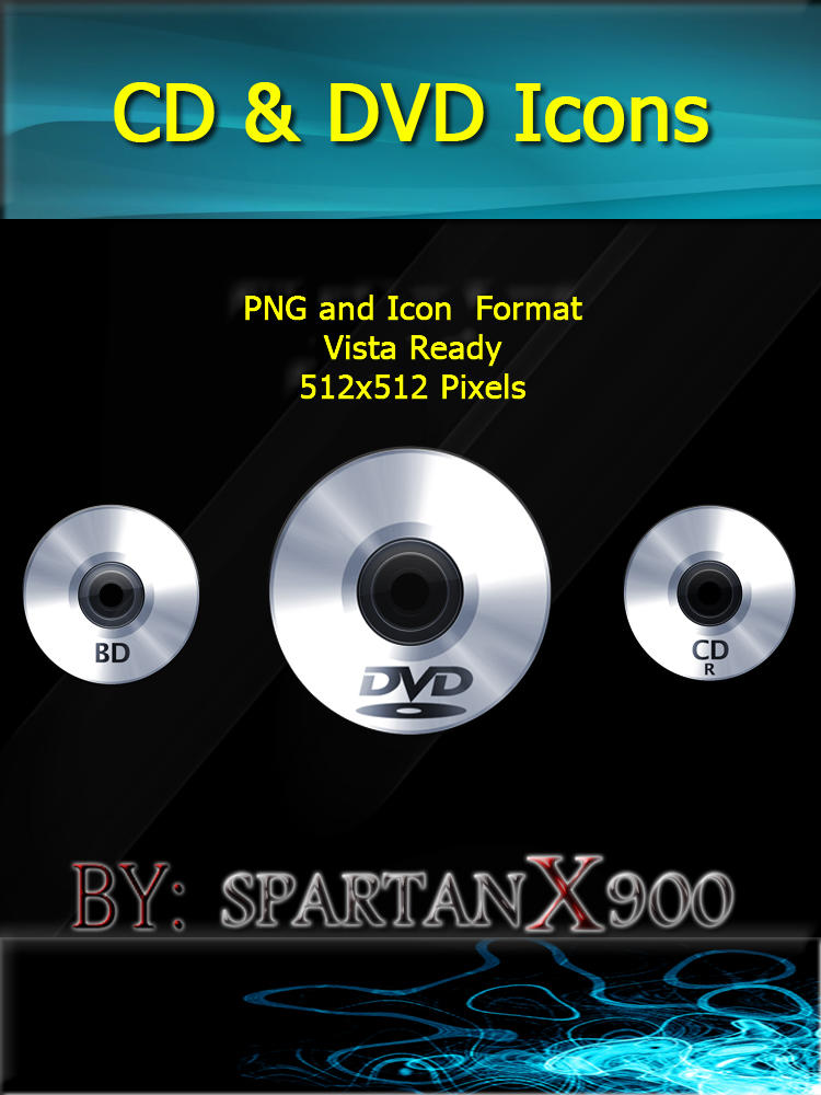 CD and DVD Icons by SpartanX900