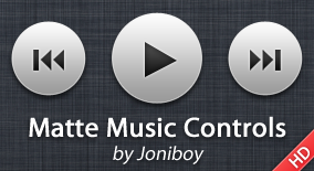 Matte Music Controls by jonarific