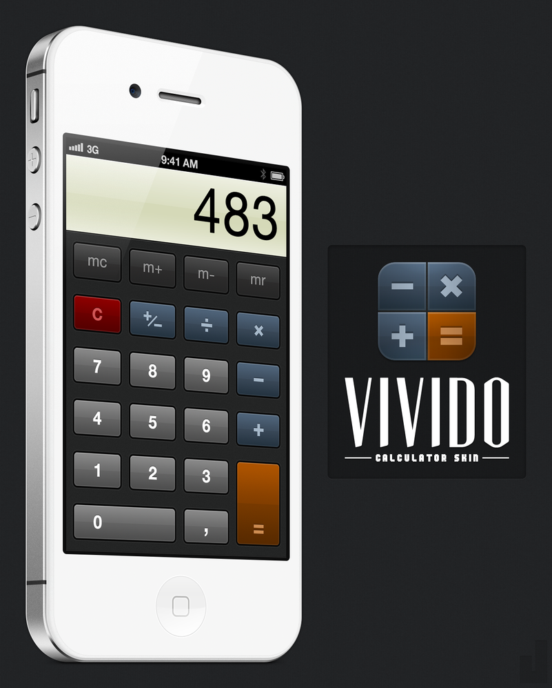 Vivido Calculator Skin by jonarific