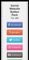 Social Website Button Pack by jonarific