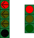 German Regular and Four-Left Arrow Traffic Signal